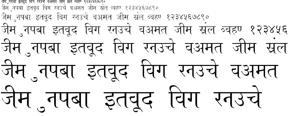 A Aseem Hindi Font