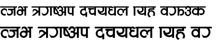 Aakriti Bold Hindi Font