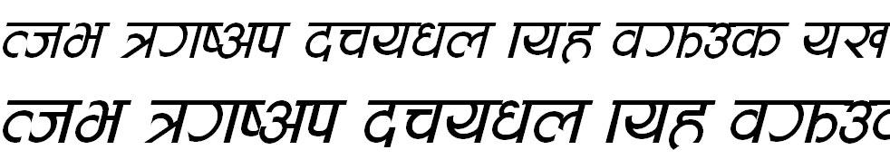 Aakriti Italic Hindi Font