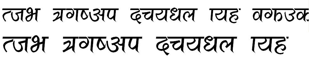 Aalekh Hindi Font