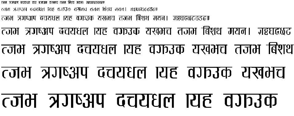 Aayamica Gothica Hindi Font