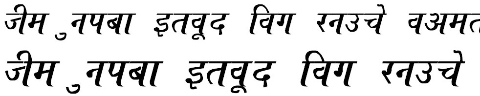 Ajay Normal Bold Italic Hindi Font