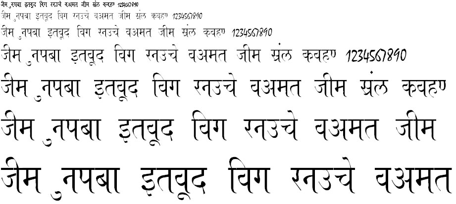 Ajay Normal Thin Hindi Font