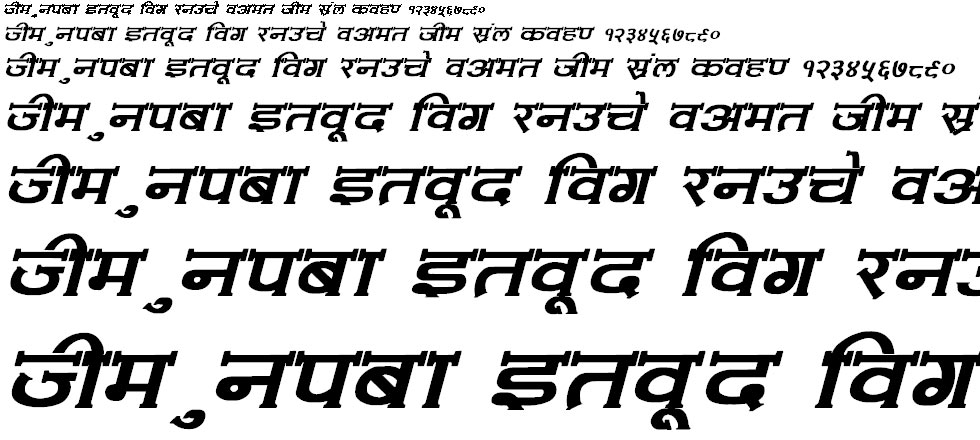Amit Normal Bold Italic Hindi Font