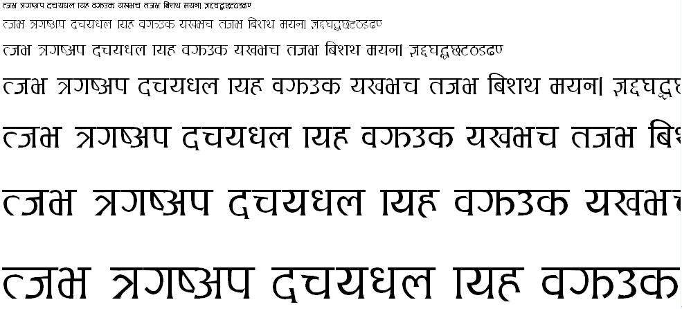 Ananda 1 Md Hindi Font