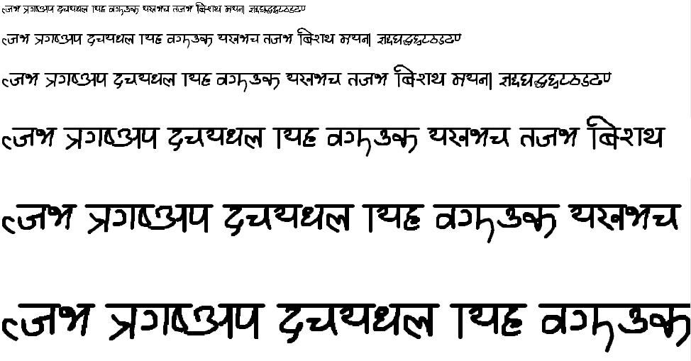 Ananda Mirmirey 2 Hindi Font