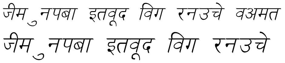 Ankit Italic Hindi Font