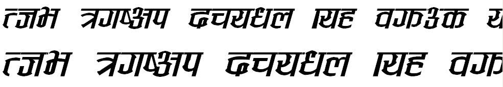 Annapurna Italic Hindi Font