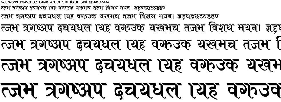 ARAP007 Hindi Font