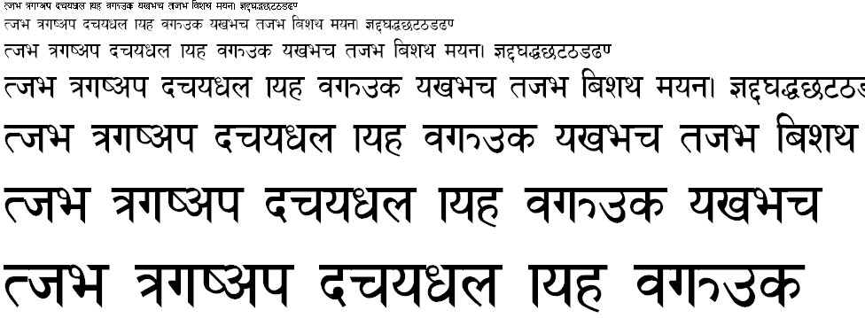 ARAP 008 Hindi Font