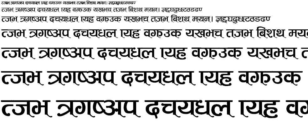 ARAP 009 Hindi Font