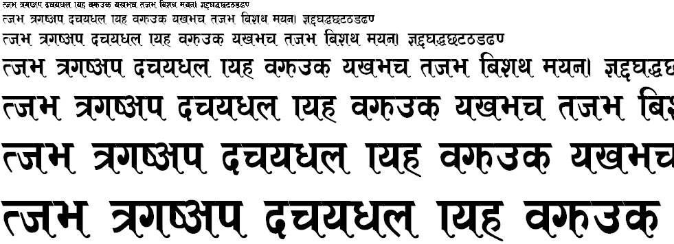 ARAP  003 Hindi Font