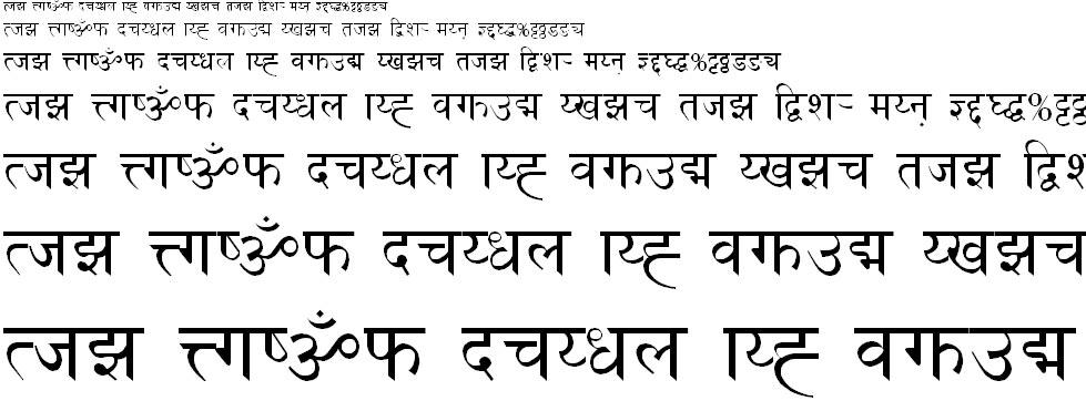 Cas Bold Hindi Font