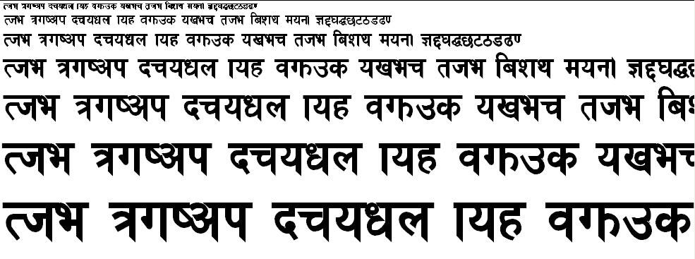 Cast Renu Hindi Font