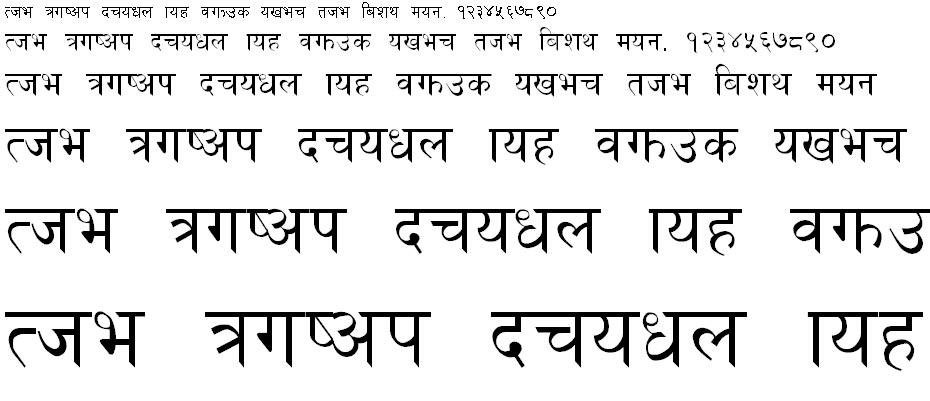 CSIT Normal Hindi Font