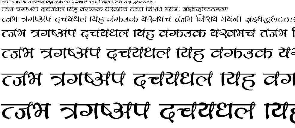 CV Bihani Hindi Font
