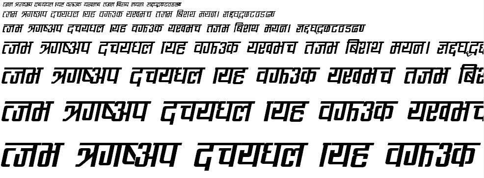 CV Rabinbold Italic Hindi Font
