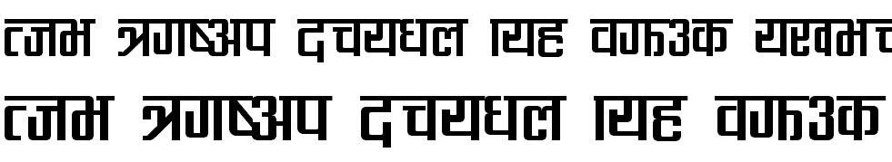 CV Rabinbold Hindi Font