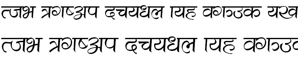 CV Shrinagar Hindi Font