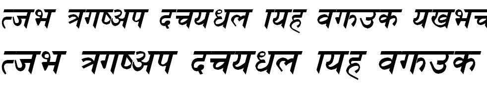 Ganga Italic Hindi Font