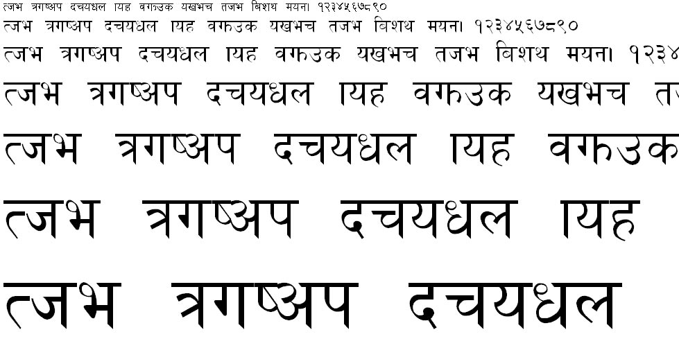 Golchha Nepali Normal Hindi Font
