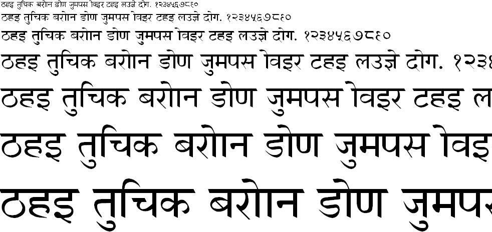 GurbaniHindi Hindi Font