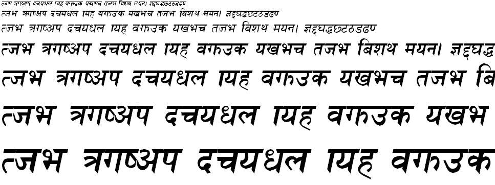 Himalb Italic Hindi Font