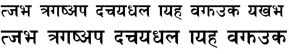 Himali Bold Hindi Font