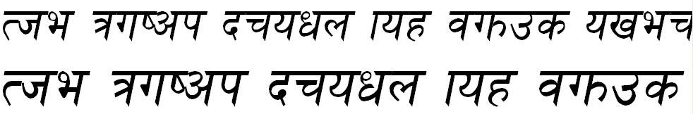 HimalliI Italic Hindi Font