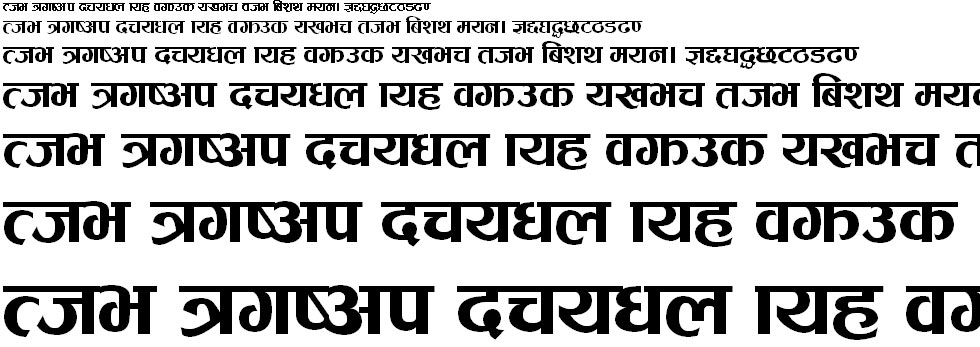 Jhee Regular Hindi Font