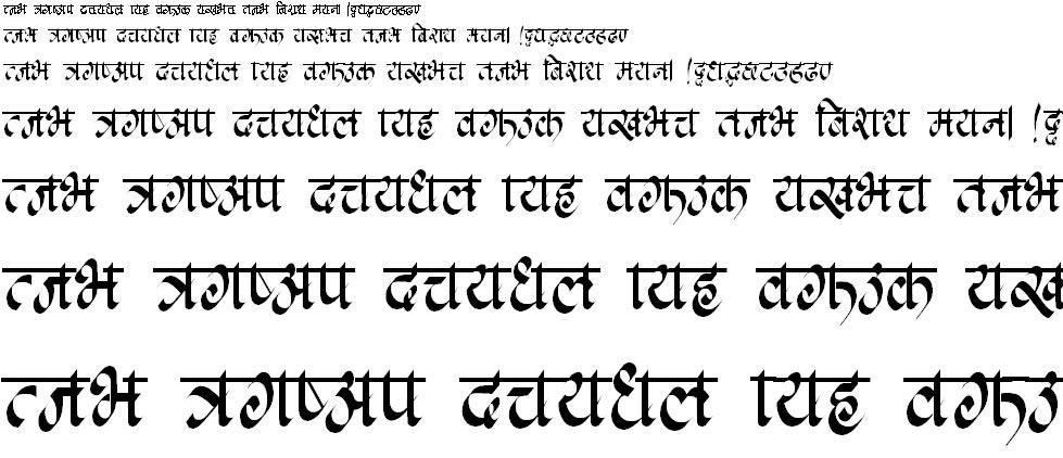 Kachhipati Hindi Font