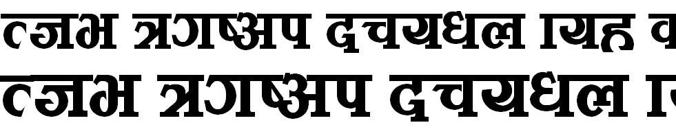 Kamana Demi Bold Hindi Font