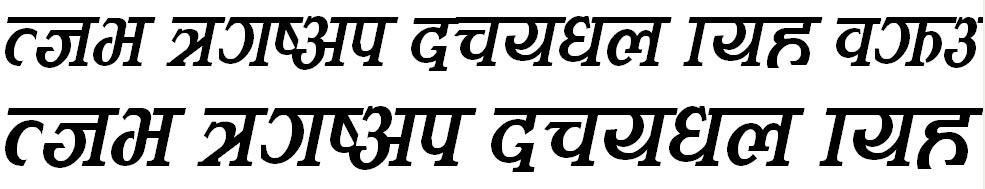 Kamana Italic Hindi Font