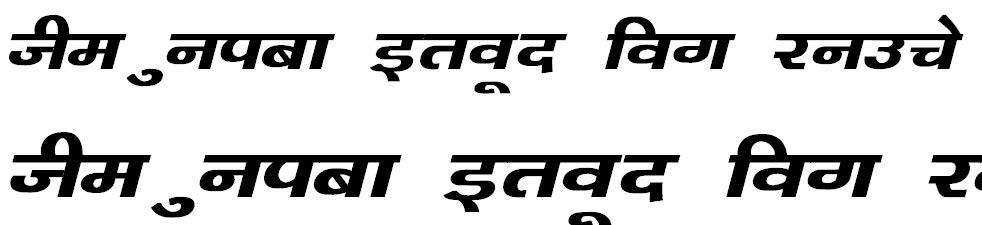 Kanika Bold Italic Bangla Font