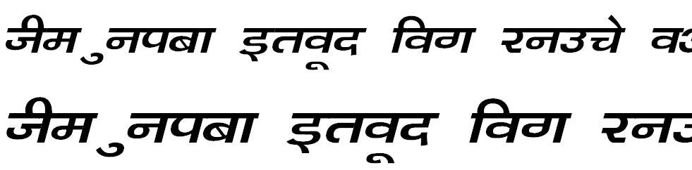 Kanika Italic Hindi Font