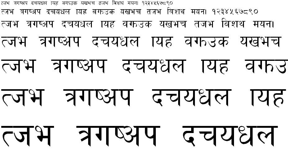 Khusbu Hindi Font