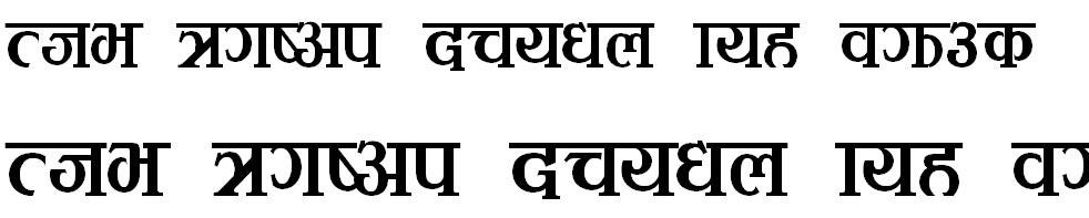 Kirtii Bold Hindi Font
