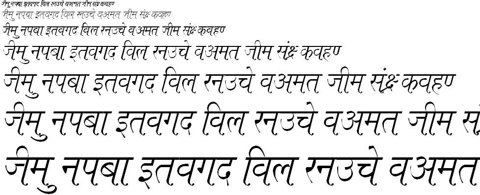 Kruti Dev 662 Hindi Font