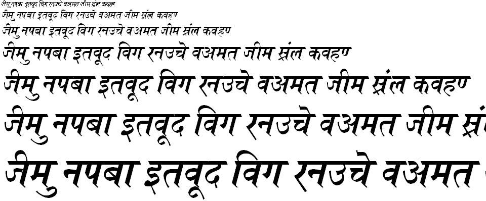 Kruti Dev 696 Hindi Font