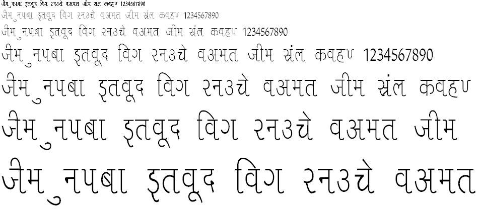 Liza Condensed Hindi Font