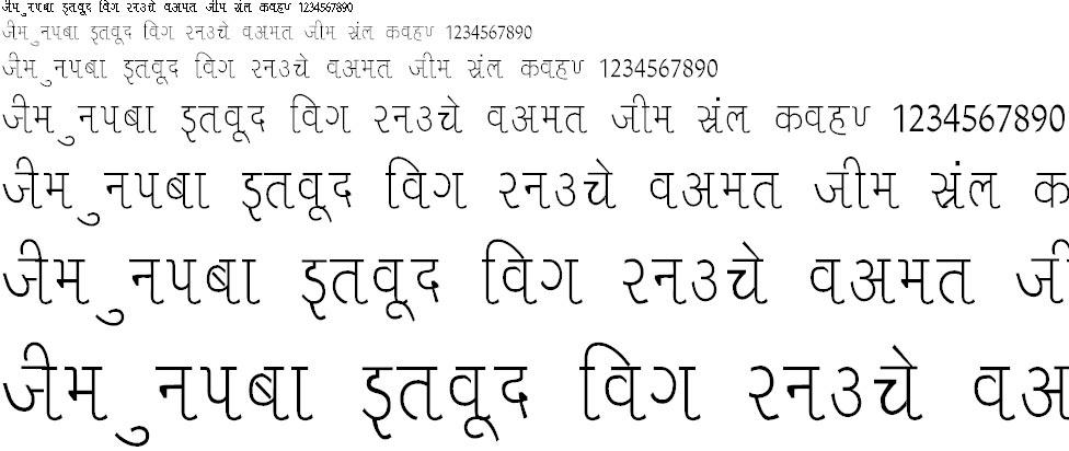 Liza Thin Hindi Font