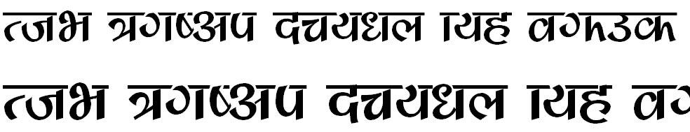 Mangal Bold Hindi Font
