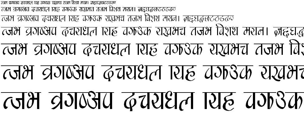 Manishau Regular Hindi Font