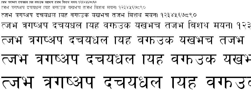 Matatirtha Normal Hindi Font