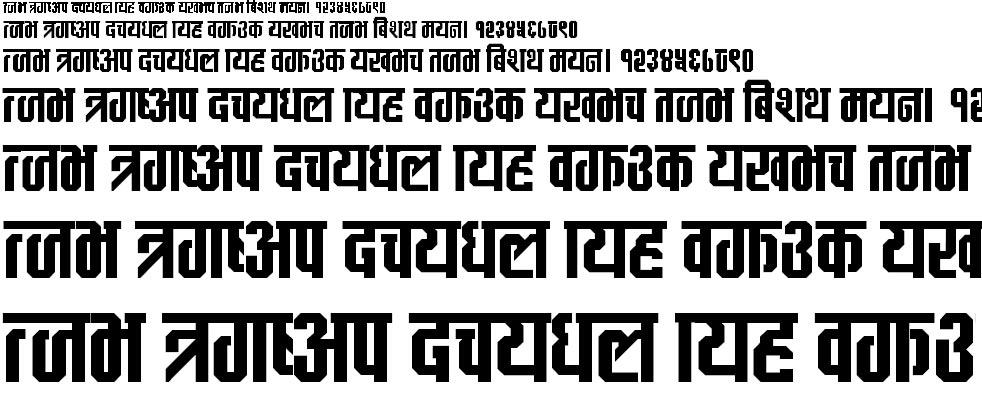 MayaBlock Hindi Font