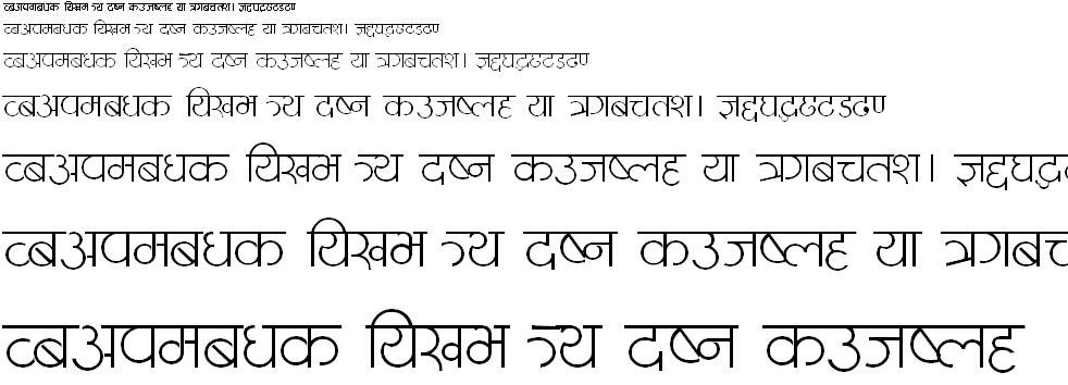 Meena Thin Hindi Font