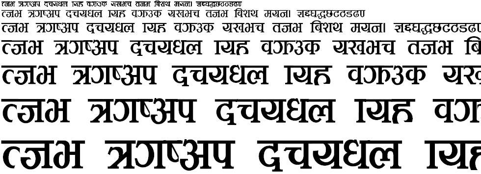 Meghnaz Hindi Font