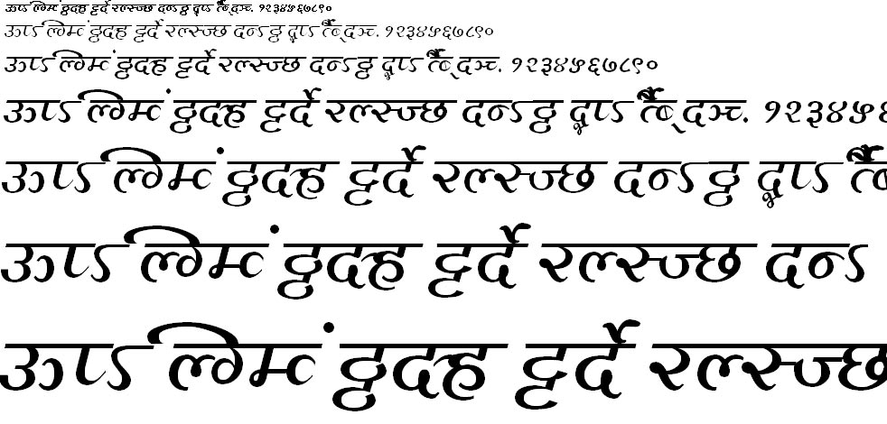 MillenniumAditya Normal Hindi Font