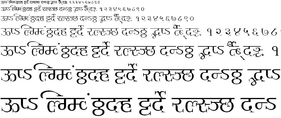 Millennium Ameya Normal Hindi Font