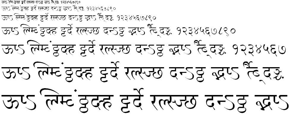 MillenniumNilima Normal Hindi Font